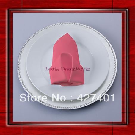 High Quality 45x45cm Watermelon Polyester Plain Napkin / Table Napkin / Hotel Napkin / Dinner Napkin (Factory Direct Sale)