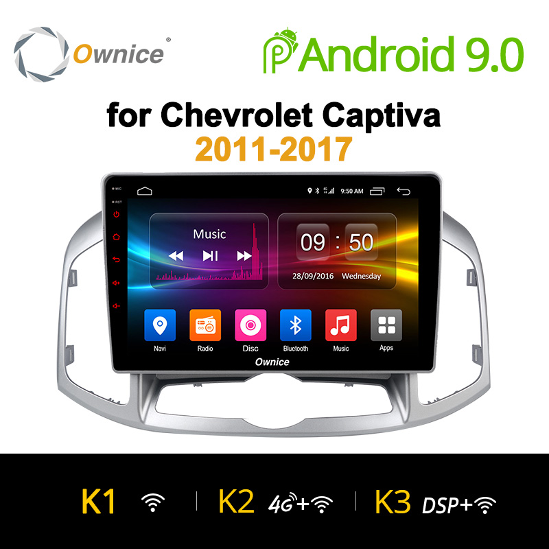 Ownice K1 K2 Android 9.0 8 Core Car DVD Stereo For Chevrolet Captiva 2011 - 2017 Auto Radio GPS Navigation Multimedia Audio