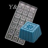 3 D DIY 투명 상자 매화 눈송이 꽃 하드 Polycarboate 베이킹 금형 초콜릿 메이커 PC Desser 금형