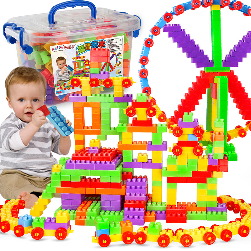 400pcs Educational Building Blocks Set DIY Assembly Big Bricks Models Figure Intellectual Development Toy For Children Kid Duplo intellectual development diy 3d pirate castle toy bricks puzzle set 358 piece