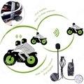 Envío Libre!!! 2014 Versión Actualizada!! 2 UNIDS 500 M BT de La Motocicleta del Casco Auricular Bluetooth Intercom Interphone (Paquete de 2)