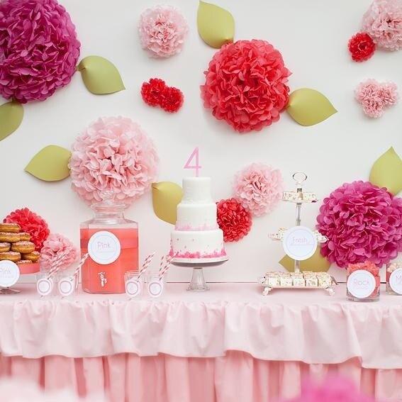 Paper Flower Balls For Wedding 24 Colors 30pcs 10cm Tissue Paper Pom Poms Flower Balls Party Wedding