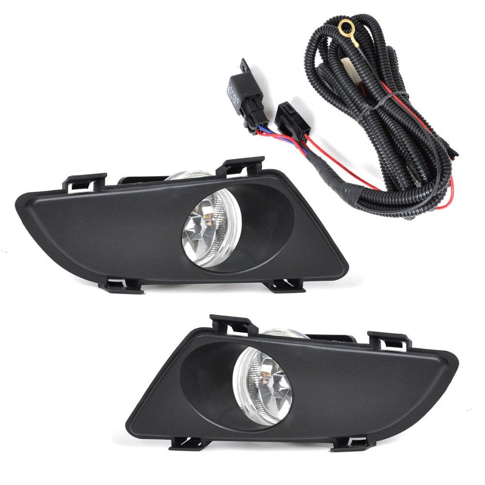 Beler avant droite gauche clair antibrouillard lentille de lampe avec Kit de câblage pour Mazda 6 2003 2004 2005
