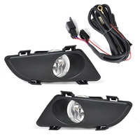 beler Front Right Left Clear Fog Lights Lamp Lens w/Wiring Kit for Mazda 6 2003 2004 2005