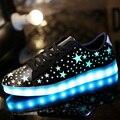 201 Моды корзины Привело обувь для взрослых Мужчин Световой загораются обувь для взрослых светящиеся chaussure led femme zapatillas deportivas