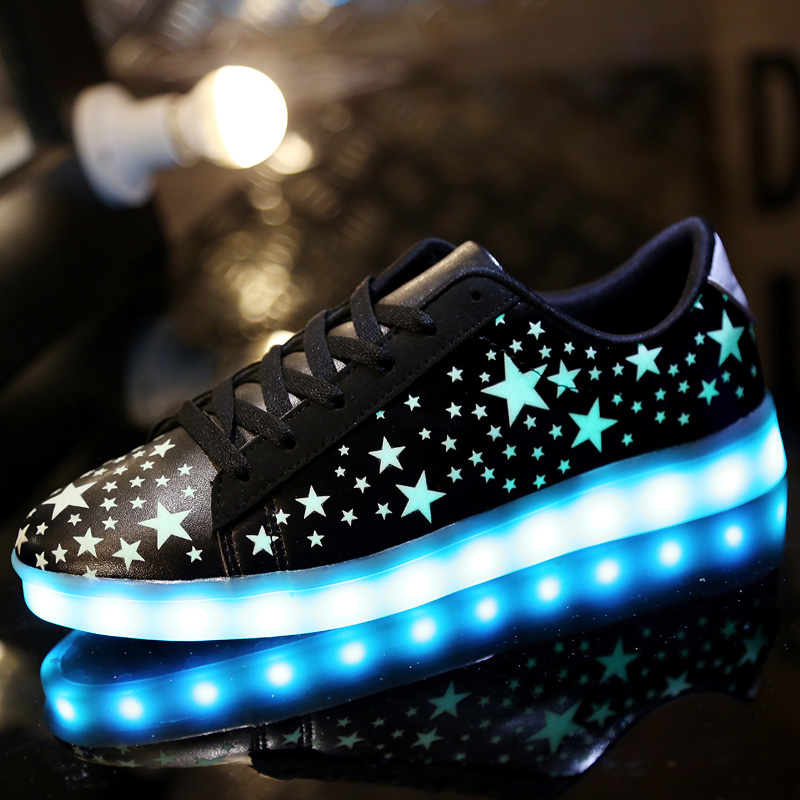201 Fashion basket Led shoes for adults Men Luminous light up shoes for adults glowing chaussure