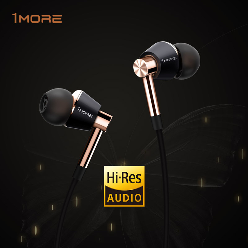Original 1More Triple Driver In-Ear Earphone HIFI hybrid Earbuds with In-line Microphone and Remote for apple meizu xiaomi MP3