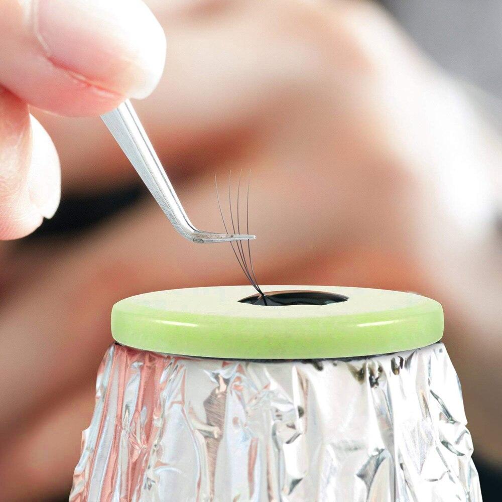 Круглый Нефритовый камень накладные ресницы для наращивания клей поддон подставка держатель для ресниц Клей инструмент для макияжа TSLM2