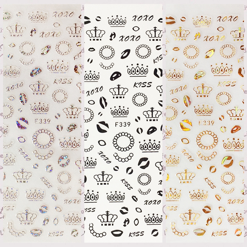 Word White Romantic XOXO Stickers