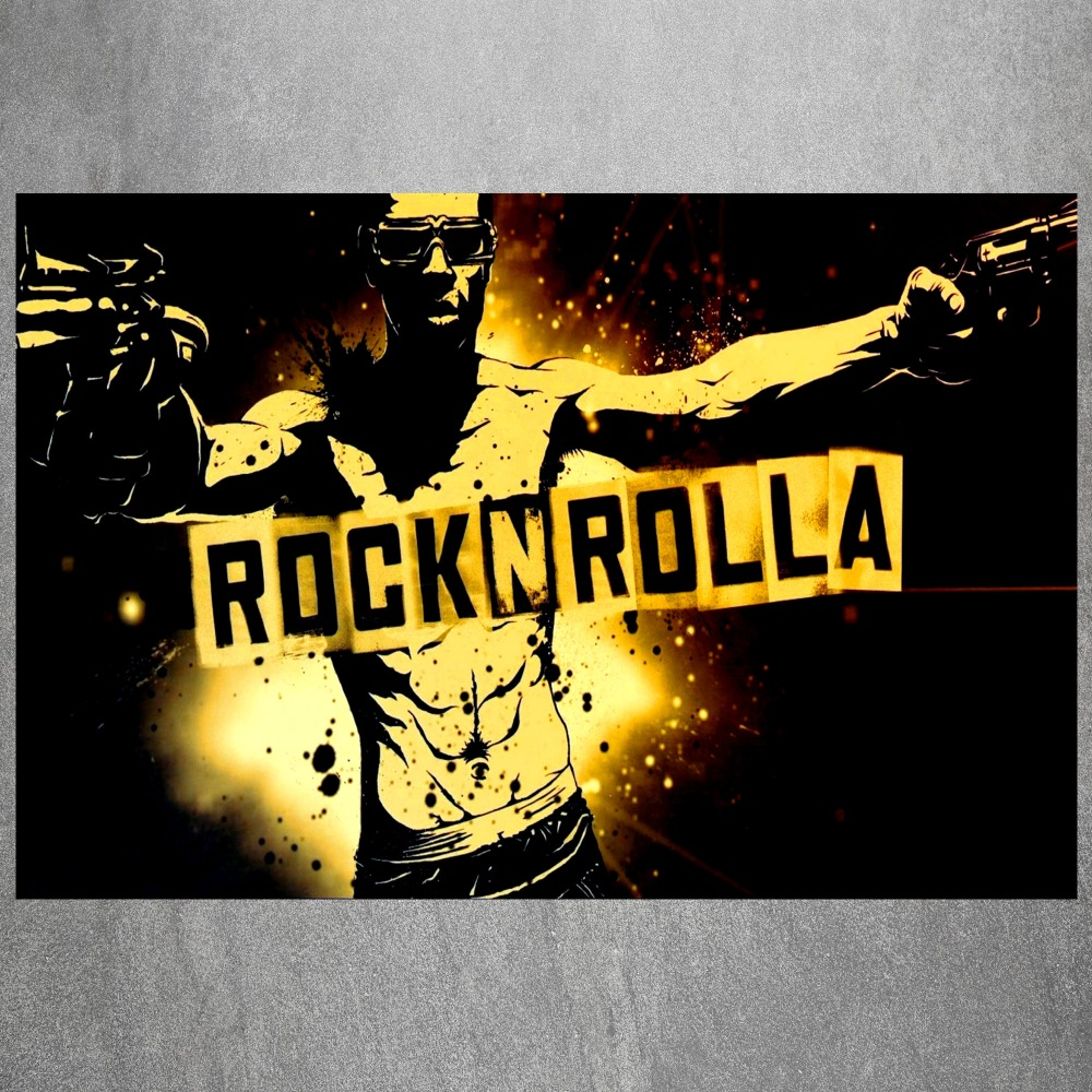 Rock N Roll Gun Man Canvas Art Print Painting Poster Wall Picture ...