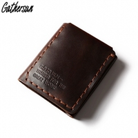 Gathersun Men's Wallet Leather Bigger Walter Mitty Purse Handmade Customized Genuine Leather Wallet with Coin Pocket