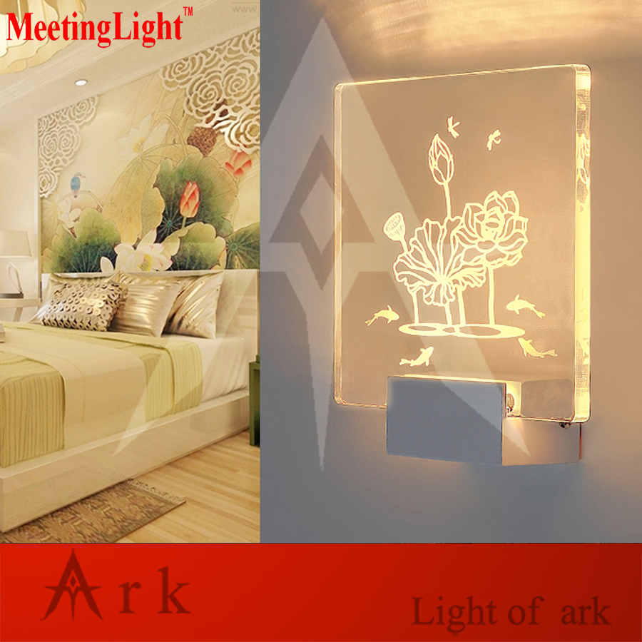 1PCS engrave acrylic 5w led Wall Sconce Wall Lights for Bedroom ...