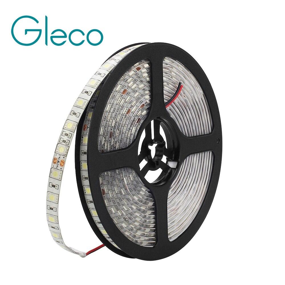 DC24V LED Strip 5050 60LEDs/m 5M/lot IP65 waterproof LED Flexible strip Light 5050 RGB white,warm white, LED Tape недорго, оригинальная цена