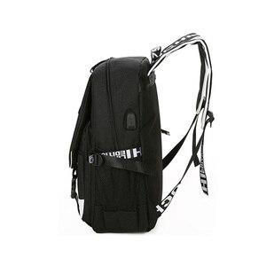 Image 4 - My Hero Academia Laptop plecak z ładowarką USB Boku no Hero Academia COS plecak szkolny plecak wodoodporny plecak podróżny