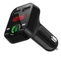 3 em 1 MP3 Player para Carro 5 V/2.1A 16GB Handsfree Bluetooth 5.0 Carro USB Carga Rápida MP3 Player Tela LCD FM Transmissor de Carregamento