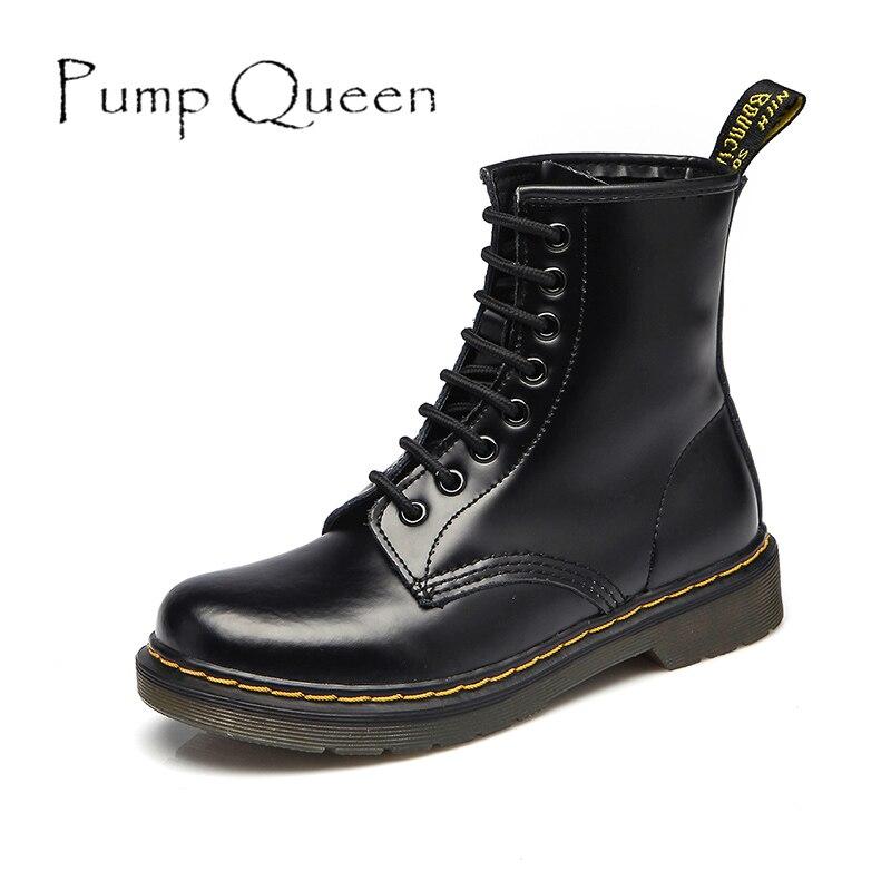 Мартин обувь для женщины мотоцикл плоские ботинки 2015 осень зима женщин кожа свободного покроя обувь панк голенищем мужчин размер 43 44 обувь ...