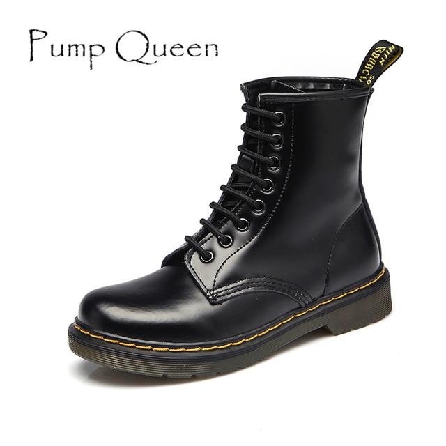 fde30ca8c9a Femmes Bottes Chaussures Femme Haute Cheville Bottes Punk 2018 Automne  Hiver Vache En Cuir Chaussures à