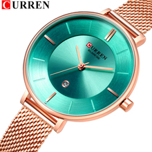 CURREN luxury brand women watch Women's Casual Quartz stainless steel strap Band Watch Analog Wrist Watch moda mujer 2019