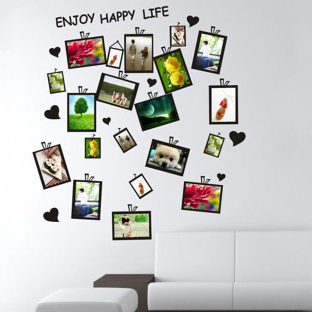 Free shipping New Multi Photo Frames Wall Stickers Photo Wallpaper ...