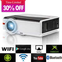 Smart Android WiFi LCD LED Projector Home Cinema Bluetooth 5000 Lumens Full HD Video Mobile Beamer For Smartphone TV iPhone