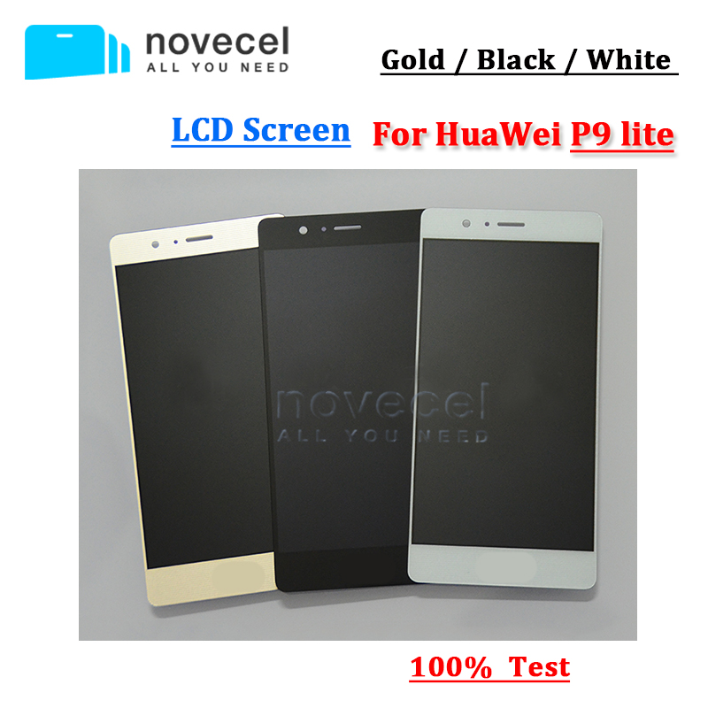 Good quality For Huawei Ascend P9 lite LCD Display+Touch Screen Digitizer + Glass Assembly replacement replacement original touch screen lcd display assembly framefor huawei ascend p7 freeshipping