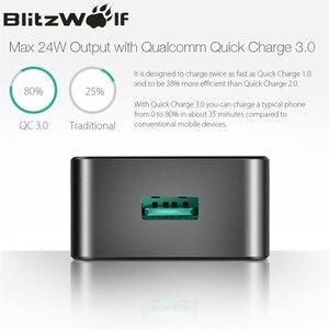 Image 4 - BlitzWolf 18W Quick Fast Charge 3 Universele USB Adapter Telefoonlader Micro USB kabel Type C Mobiele telefoonaccessoires Opladen QC 3.0 voor iPhone Voor Huawei Voor Xiaomi