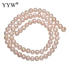 5-6mm Natural Pink Potato Shape Fashion Freshwater Loose Pearl Beads Necklace Bracelat Jewelry Making DIY Pearl Loose Beads