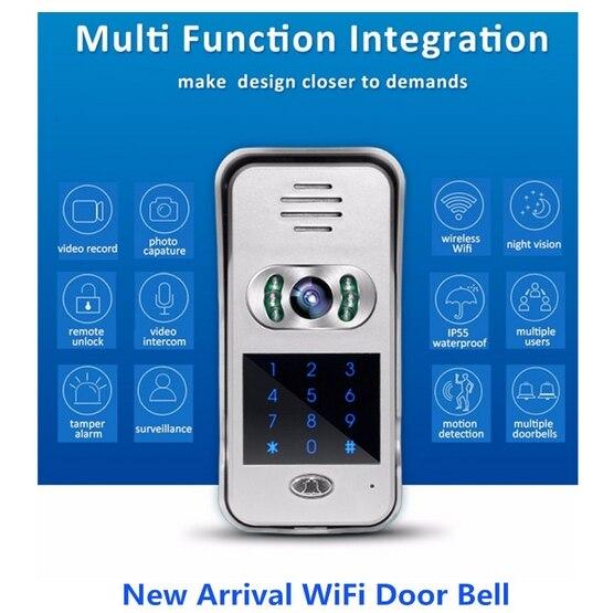 Cellphone control Remote monitoring video door phone IP doorbell  keypad WiFi door bellCellphone control Remote monitoring video door phone IP doorbell  keypad WiFi door bell