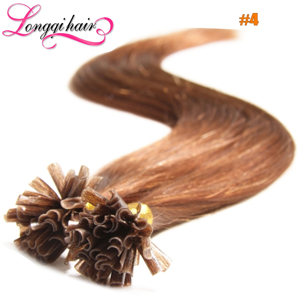 U nail tip hair extensions pre bonded keratin glue fusion hair u nail tip hair extensions pre bonded keratin glue fusion hair extensions indian remy colorful human hair pieces 18 24 05s in fusion hair extensions pmusecretfo Image collections