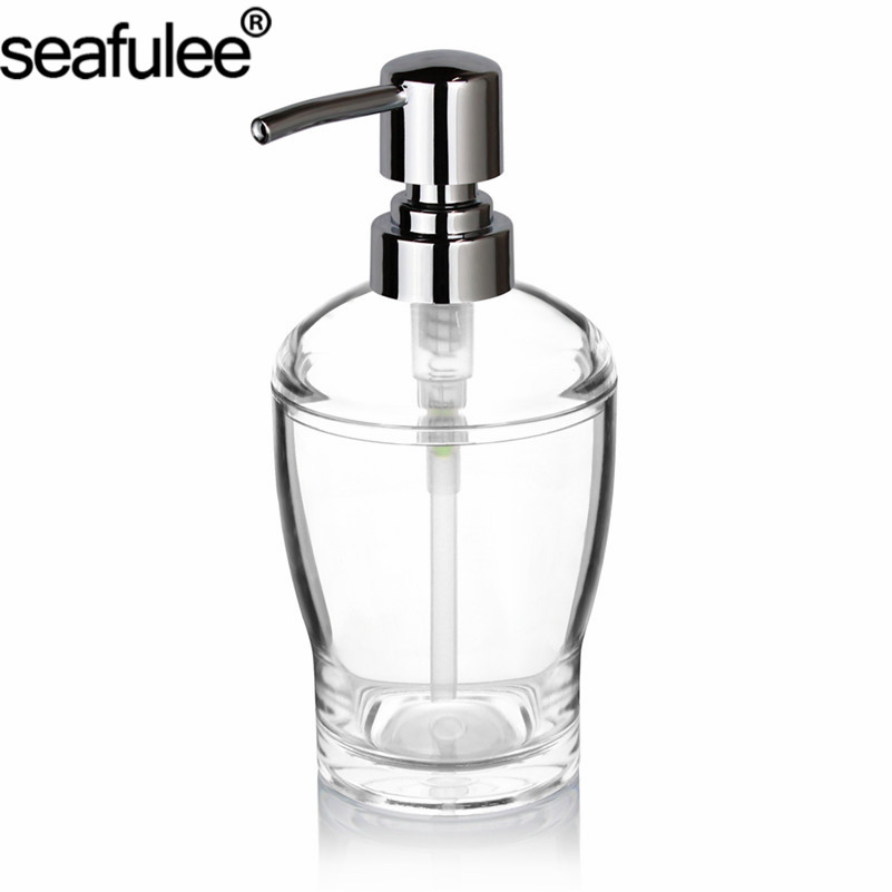 Acrylic Liquid Lotion Soap Dispenser Pump Bottle Transparent/Chrome Kitchen  Dishwashing Bathroom Countertops 10 OZ (Clear) In Liquid Soap Dispensers  From ...