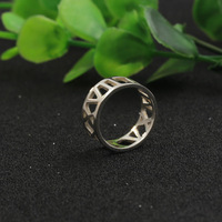 Hollow Roman format Custom Name Ring Men Solid Silver 925 Personalized Engagement Women Ring