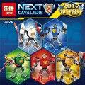 2017 caballeros lepin 14024 nexus nexus poderes pouvoirs aaron lanza de acción figuras de arcilla ladrillos de juguete bloques de construcción 1 unids