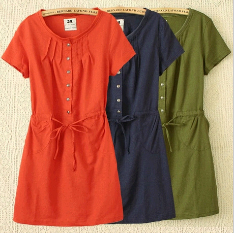 Summer New Large Size Women Loose Short-Sleeved Cotton T shirt dress Women Fashion Party Dresses For Wedding Vestidos 50-5E