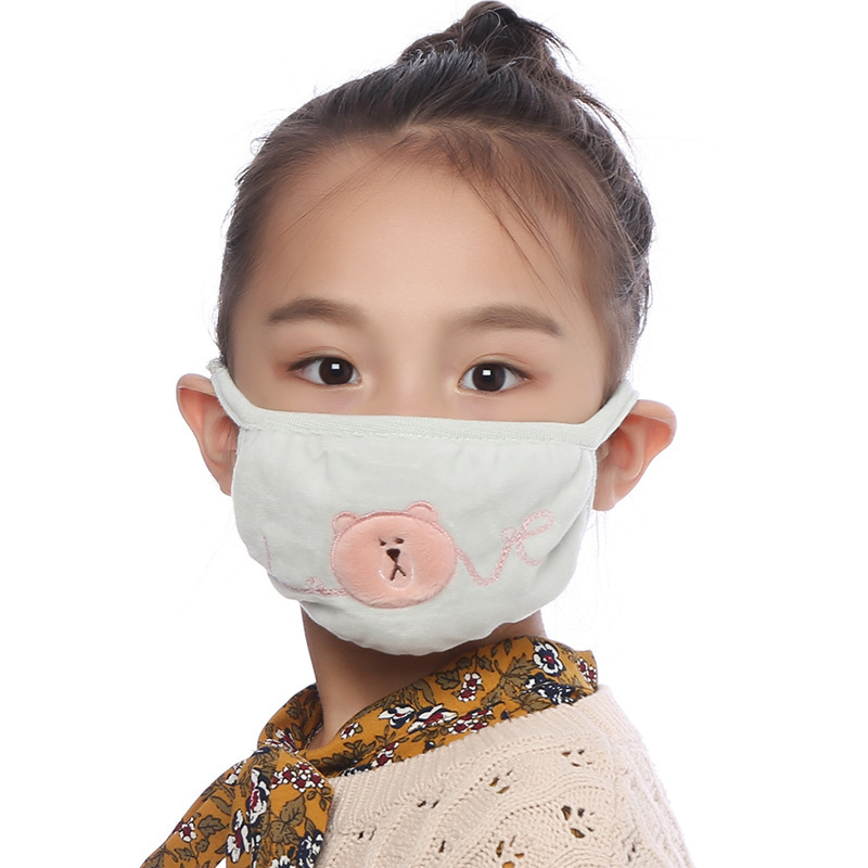 Children Dustproof Anti Pollution Mask Respirator Washable Reusable Masks Cotton Unisex Kid Mouth Muffle Keep Warm Mask