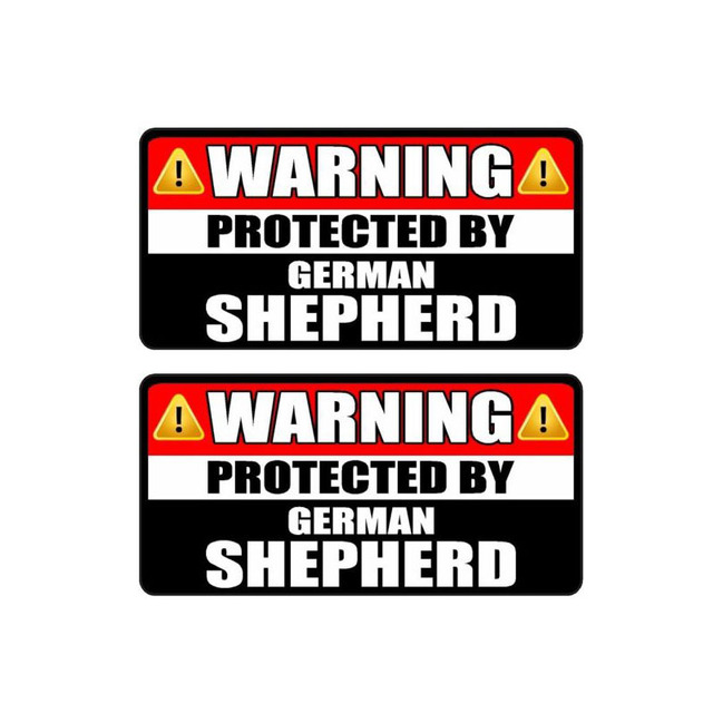 Protected by German Shepherd Decal