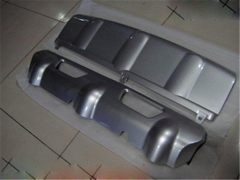 Garniture de protection de pare-chocs avant + arrière en plastique ABS Chrome de haute qualité pour Nissan x-trail X Trail T32 Ro 2008-2013 bâches de voiture