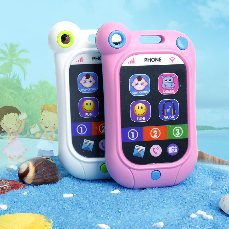 Baby Early Learning Simulation Smart Touch Screen Phone Stop Crying Cellphone With Music Kids Toys For Children