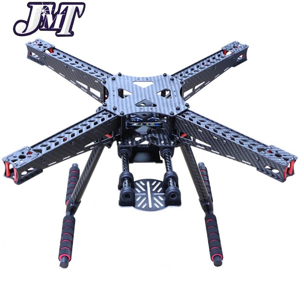 JMT kit de cadre quadrirotor 450 450mm en Fiber de carbone avec train d'atterrissage en fibre de carbone pour cardan 2 essieux/3 essieux Drone quadrirotor FPV