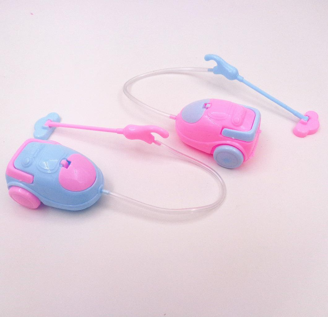 4pcs Dollhouse Mini Vacuum Cleaner Choose Furniture Doll Accessories Toothpaste Tube For Girl Dolls Children Baby Girl