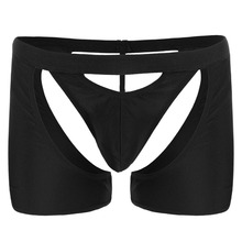 2019 New Sexy Mens Underwear Hollow Trunks Boxer Pants  Shorts String Pouch Sissy T-back Lingerie Underpants