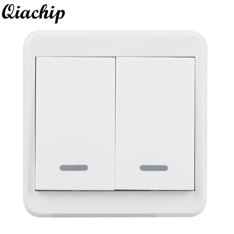 QIACHIP WiFi Smart Switch Alexa Wall Switch APP Remote Control Manual Control Panel Work with Amazon Light Google Home Supporte qiachip wifi smart home switch 3 gang waterproof touch panel app remote control amazon alexa google home for ios android ds25