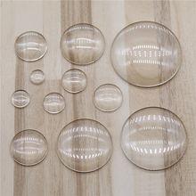 WYSIWYG – Cabochon rond en verre transparent à dos plat, résultats de bijoux et composants 8mm 10mm 12mm 14mm 16mm 18mm 20mm 25mm 30mm 35mm