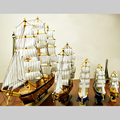 4 Sizes Wooden Sailing Boat Wood Clipper Ship Model Collectible Sailboat Decorative Crafts