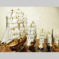 4 Tamanhos De Madeira Barco À Vela de Madeira Clipper Ship Model Collectible Veleiro Artesanato Decorativo