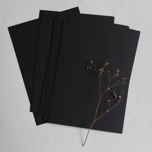 Карты Писчей Бумаги 350 г Черный Сообщение Карта Размеры Продукта 21 Х 15 см Упаковка из 10 Шт. DIY Руки рисунок Создается