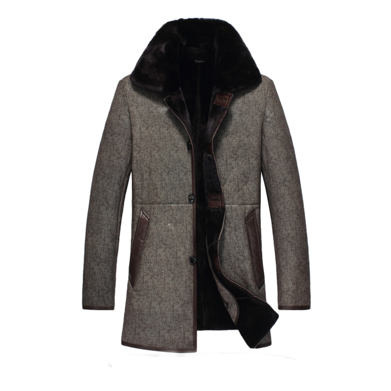 Jacke Schaffell Ayunsue Yyj0055 Leder Plus Größe winter Mantel Mäntel 40 Warm 4xl Lederjacke pelz Männer Brown Volle Echtem Minus UjqVLSMGpz