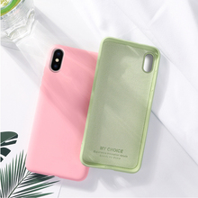 Liquid Silicone Case For iPhone 7 Luxury Pink Yellow Black Silicon Cover 6 6s 8 Plus X XS MAX XR Phone