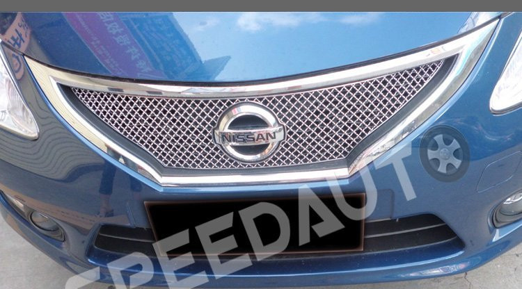 High quality stainless steel Front Grille Around Trim Racing Grills Trim For 2011 NISSAN Tiida