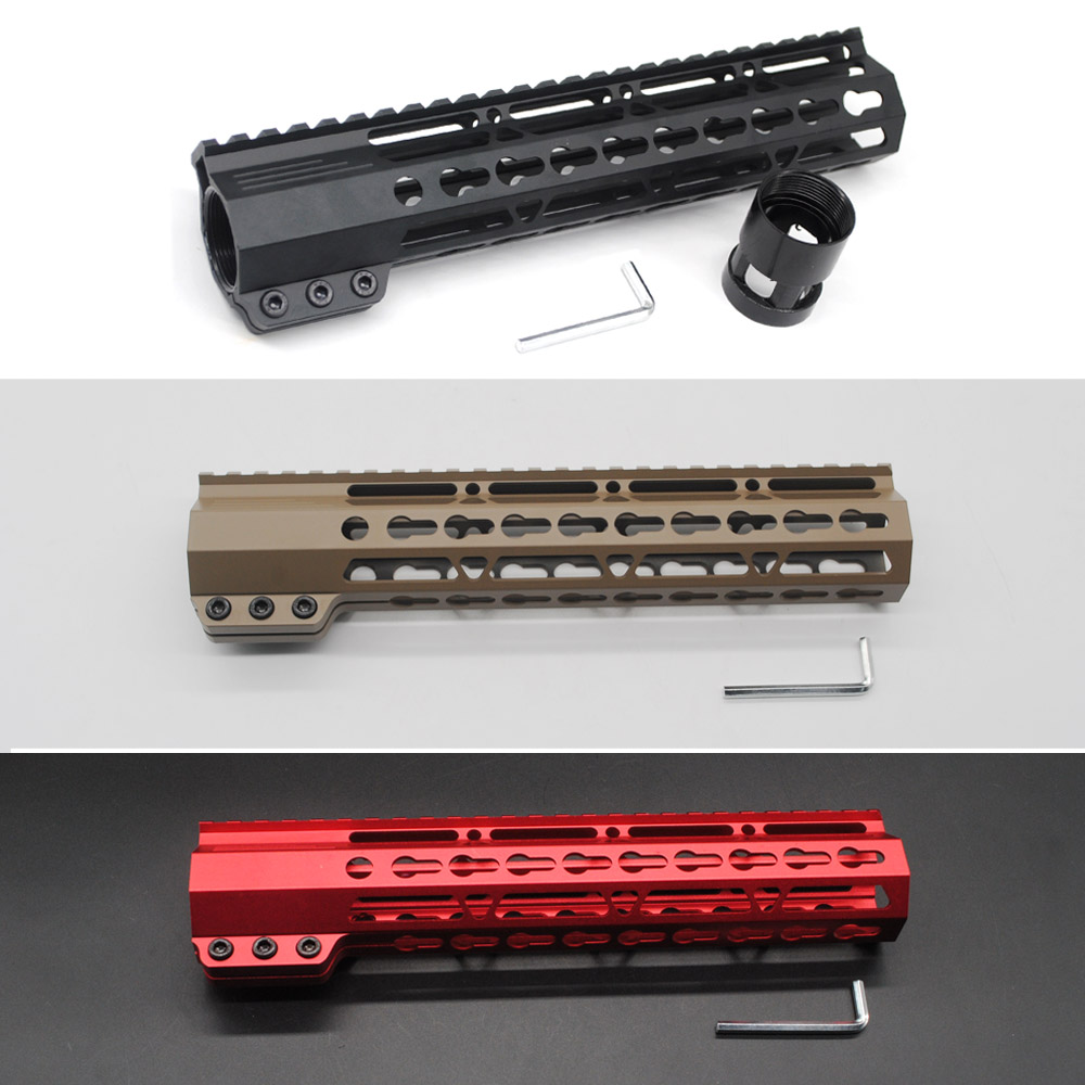 TriRock Black/Tan/Red 10 inch Slim Keymod Handguard Free Floating Picatinny Rail Mount System Fit .223/5.56 Rifle AR-15/M4/M16 аксессуар чехол 10 inch urban factory tab01uf black red
