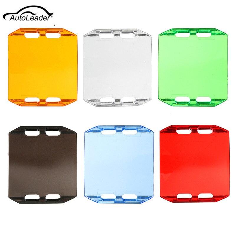 1Pcs Color LED Light Lens Covers For 4 INCH Light Bar Automobile SUV ATV WORK LIGHT LAMP